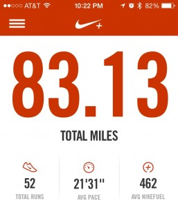 Only 6.87 miles until my next goal!